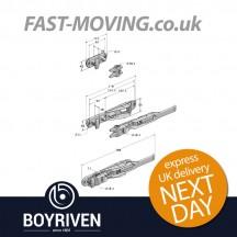 Boyriven 18mm Galvanised Flush Door Locking Gear Set