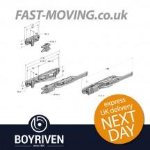 Boyriven 16mm Galvanised Flush Door Locking Gear