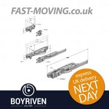 Boyriven 18mm Zinc Flush Door Locking Gear