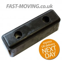 Tailboard / Tail Lift / HGV / Horsebox Rubber Buffer - 242mm with reinforced holes